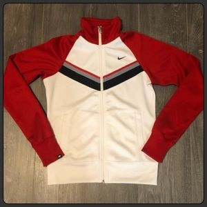 Nike Track Jacket- Red and White